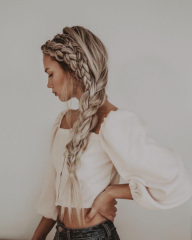Braids on braids on braids / rooted blonde long hairstyle Kirsten Zellers
