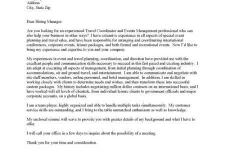 Change management analyst cover letter