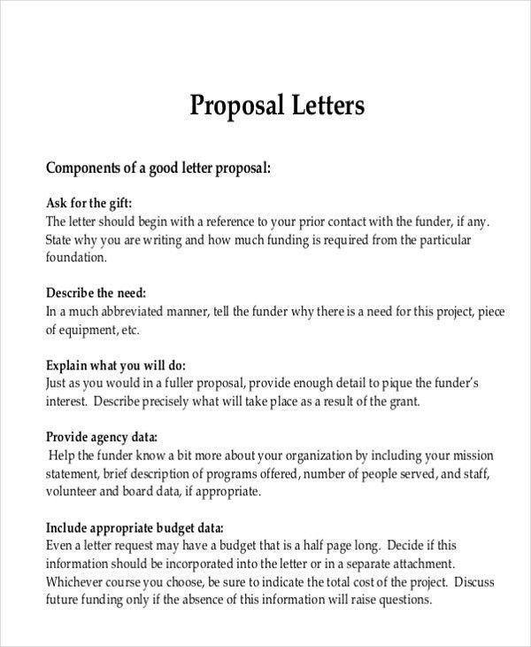 Letter Proposal Format Sample Proposal Letter 13 Free Documents - advertising proposal template