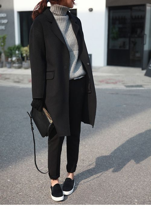 Cool style with a grey sweater