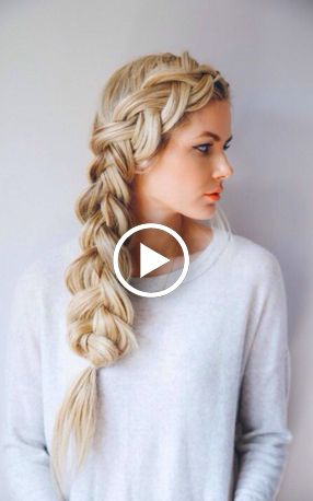Do you wanna learn how to dutch braid your own hair? Well, just visit our web site to seeing more amazing video tutorials! #hairtutorial #braidtutorials #hairvideo #videotutorial #bridalhair #pullthroughbraid #braidedhairstyles #braids #fashion #hairstyles #hairgoals