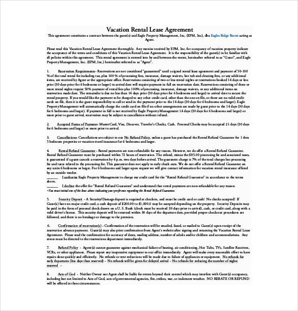 Property Lease Agreement Template Free Free Lease Rental - free sample lease agreement