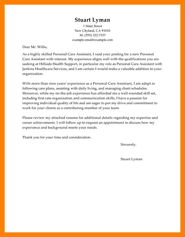 Cover Letter Personal Assistant Personal Assistant Cover Letter - personal assistant cover letter