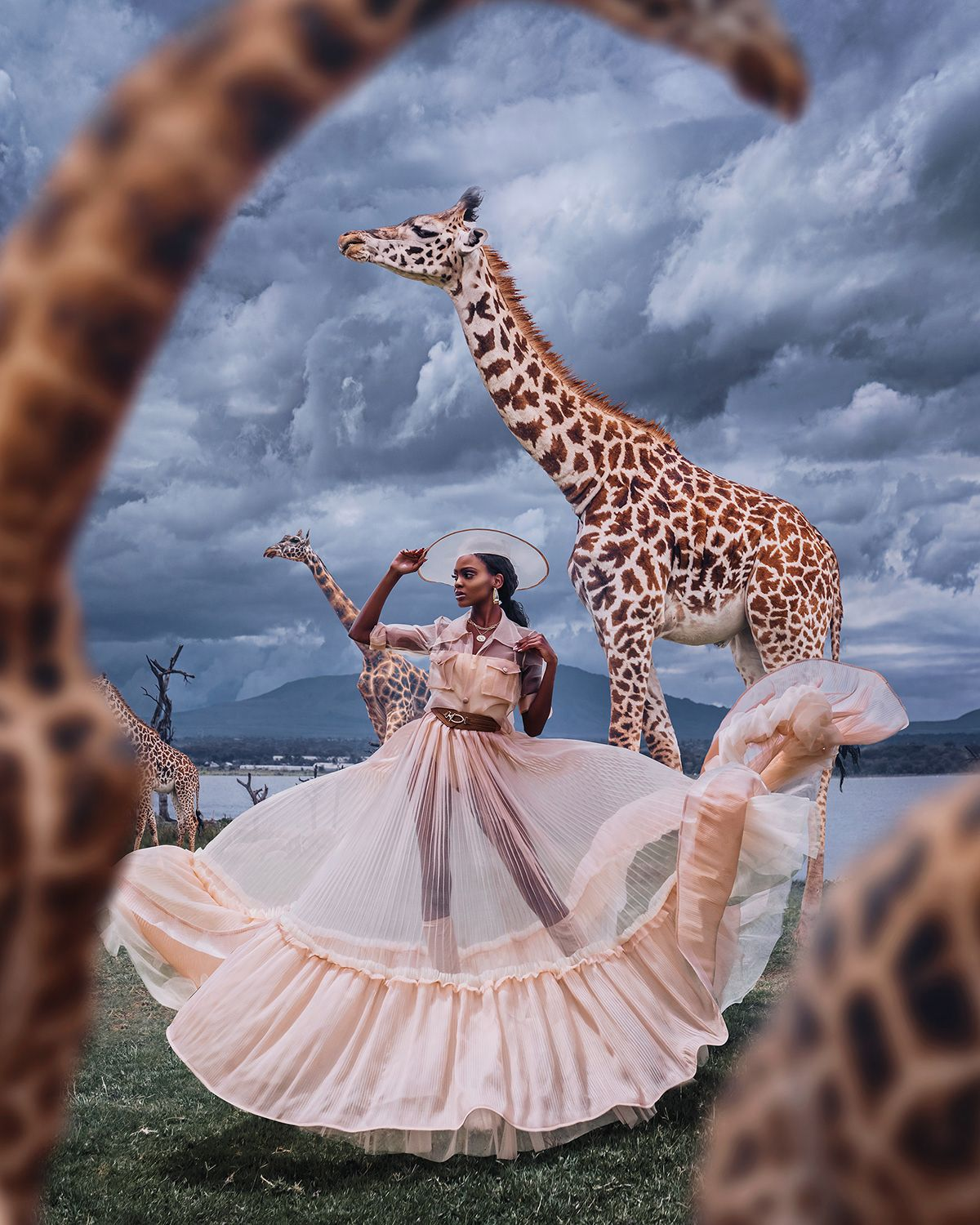 Fashion editorial in the Kenyan wilderness by Kristina Makeeva