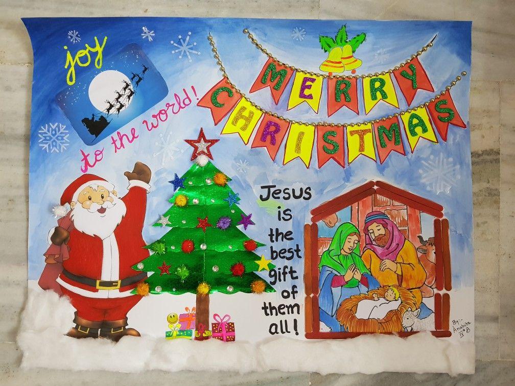 Merry Christmas School Chart Christmas Charts Christmas Arts And Crafts Christmas Art