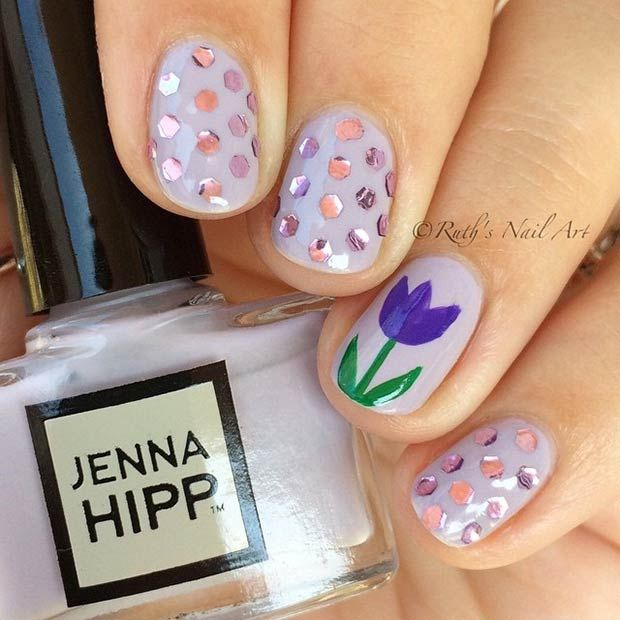 Top 50+ Pretty Flower Nail Designs For Beautiful Lady – Fashonails