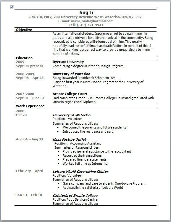 Sample Of Australian Resume Kava In Australia Australian Resume