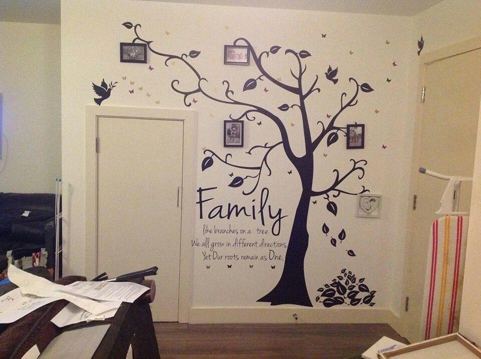 sticker mural 3d cadre de photo arbre d corer sa maison pinterest peintures murales. Black Bedroom Furniture Sets. Home Design Ideas