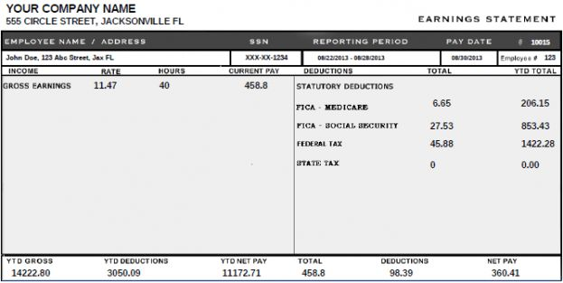 Blank Pay Stubs Template Download Blank Pay Stub Templates Excel - pay stub format