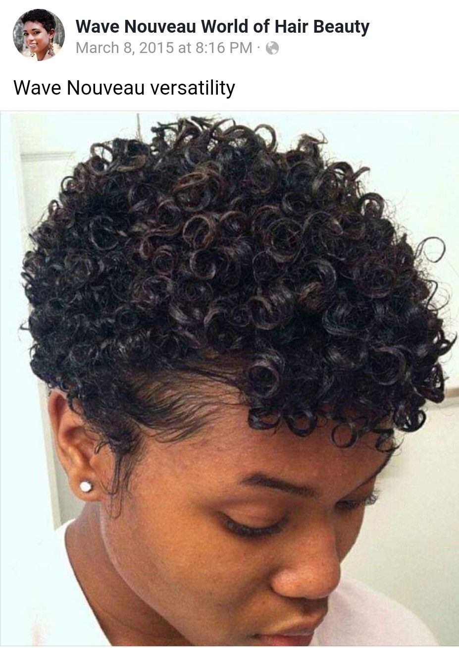 Wave Nouveau How To Curl Short Hair Short Natural Hair Styles