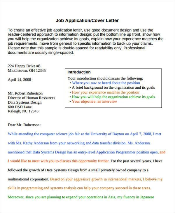 Cover Letter Job Fair Sample Thank You Letter For A Job - enclosure cover letter