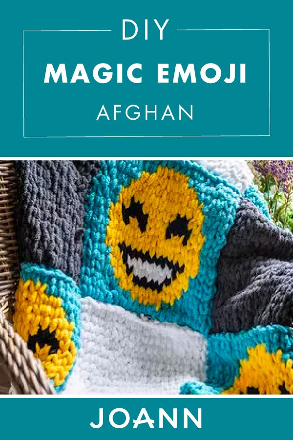 We can't help but smile with this DIY Magic Emoji Afghan from JOANN! It's easy to make this soft and cute craft that's sure to bring positive vibes to your home.