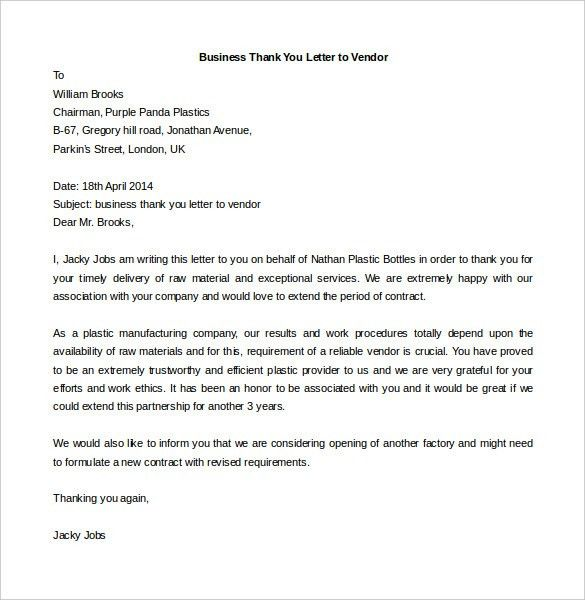 Free Business Letter Template Business Letter Template 43 Free - business thank you letter