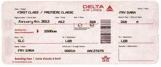 Fake Airline Ticket For Surprising Kids! Iu0027m Using This Website To .  Plane Ticket Template