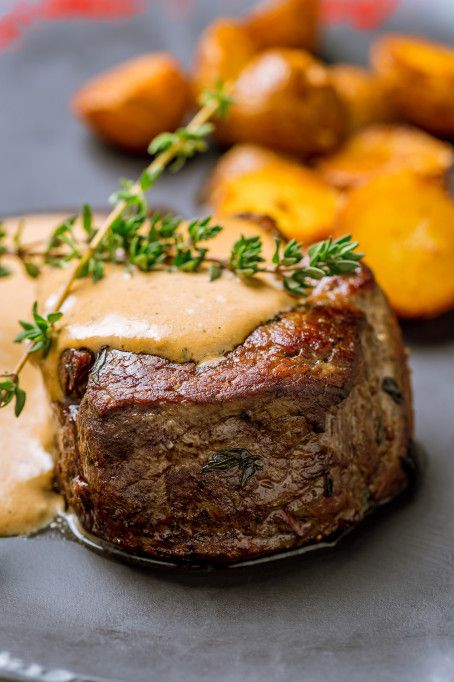 Ina Garten Recipes That'll Impress Your Dinner Guests: Filet mignon with mustard & mushrooms #inagartenrecipes #dinnerrecipes #inagartendishes