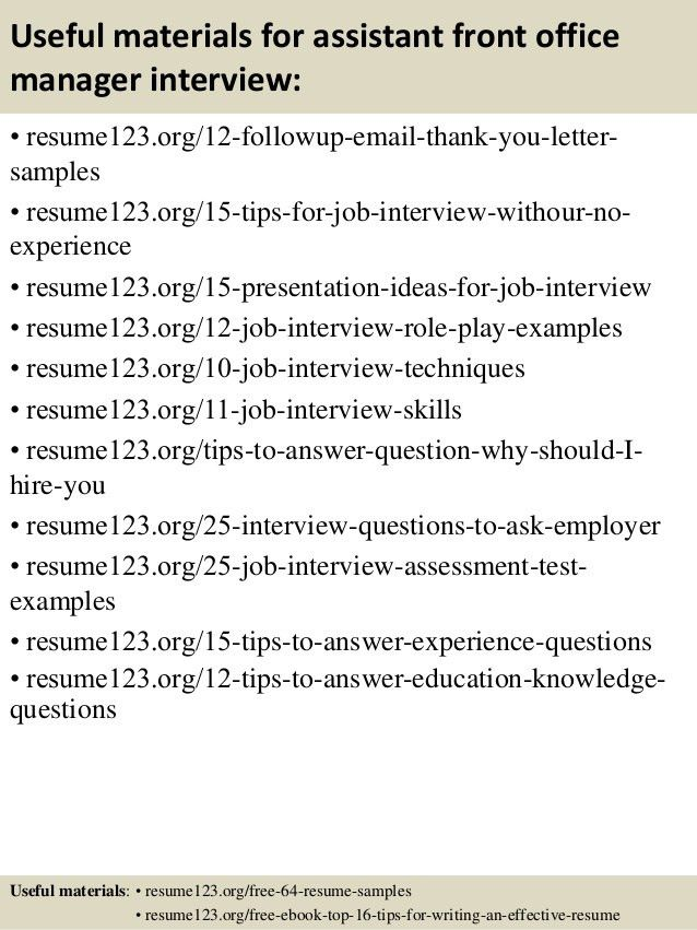 Assistant Front Office Manager Jobs Professional Assistant Front - front desk manager resume