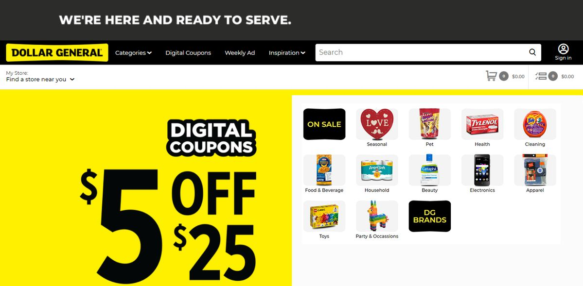 Dollar General Near Me Hours, Coupons, Store products