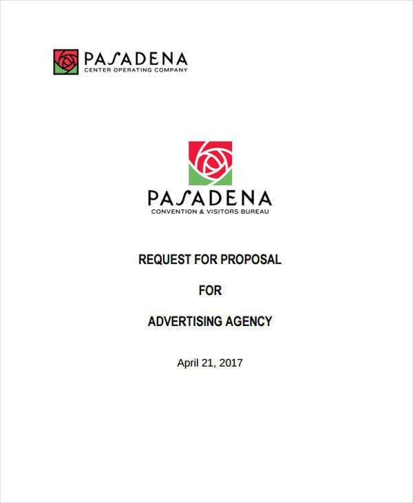 Advertising Agency Proposal Advertising Agency Rfp Template - advertising proposal template