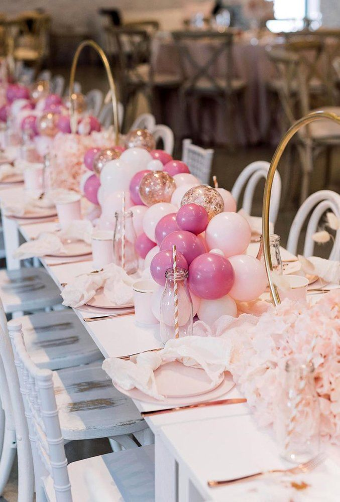 36 Wedding Balloon Decorations Iincredible Ideas ❤ wedding balloon decorations pink long tablerunner weballoonz #weddingforward #wedding #bride #weddingdecor #weddingballoondecorations
