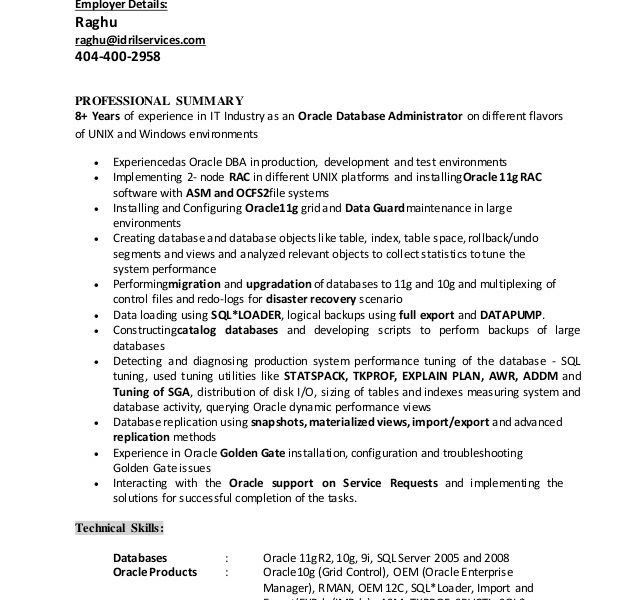 cover letter for database administrator - Fieldstation.co