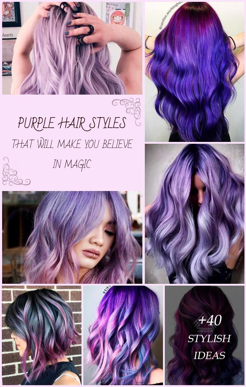Purple hair is something that every girl who loves being different should try in her life. And if you think that such a bright color is not for you, we will show you how you can make it work for your image. Amazing lavender highlights, light lilac balayage, deep purple ombre, pastel looks, and ethereal aesthetic of purple color are waiting for you!  #glaminati #lifestyle #purplehair