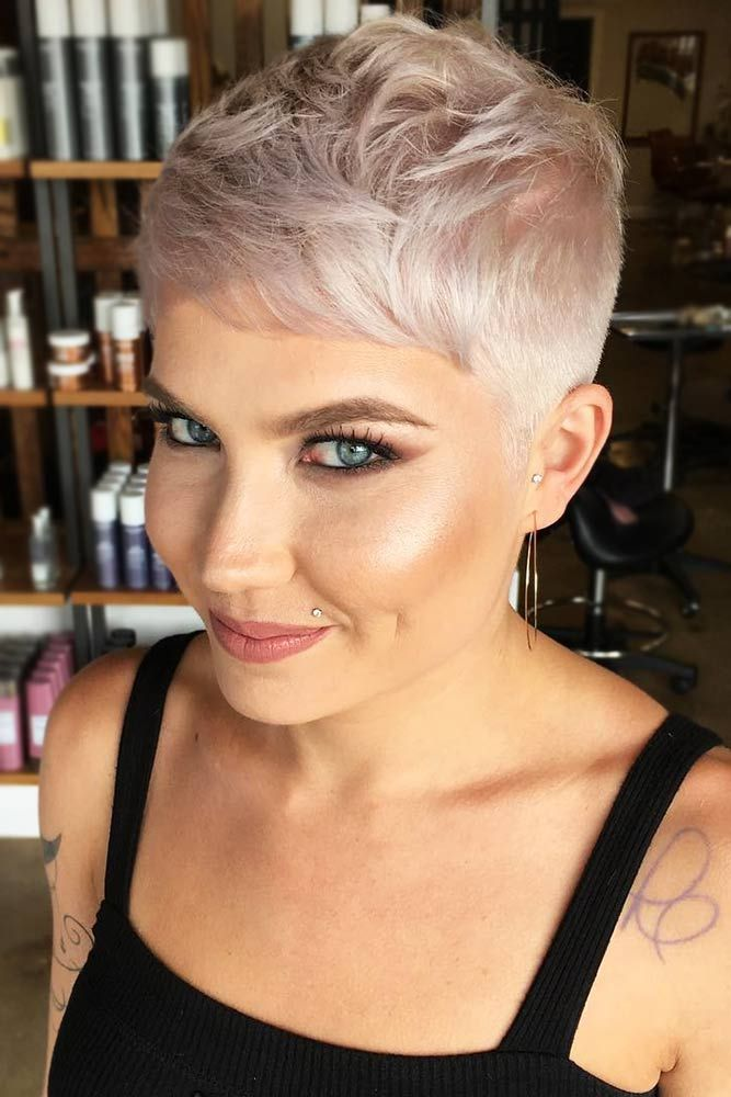 Short Tapers #fadehaircut #pixie ★  A taper fade haircut for women works for straight as well as curly hair. You canalso go for a short, mid or long option. #glaminati #lifestyle #taperfade