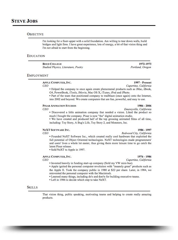 Standard Resume Standard Resume Templates To Impress Any Employer - standard resume examples