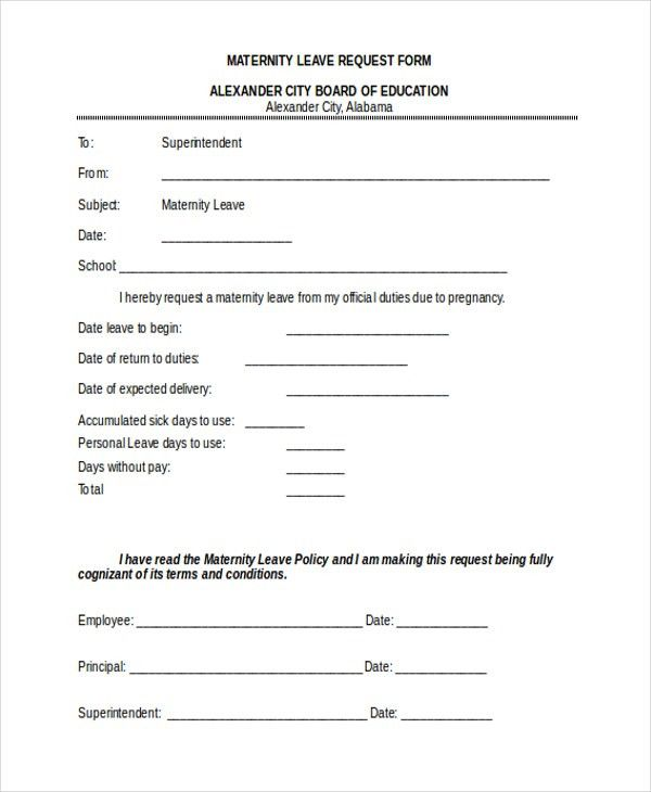 Sample Leave Form Sample Leave Request Form 8 Examples In Word - leave application form for employee