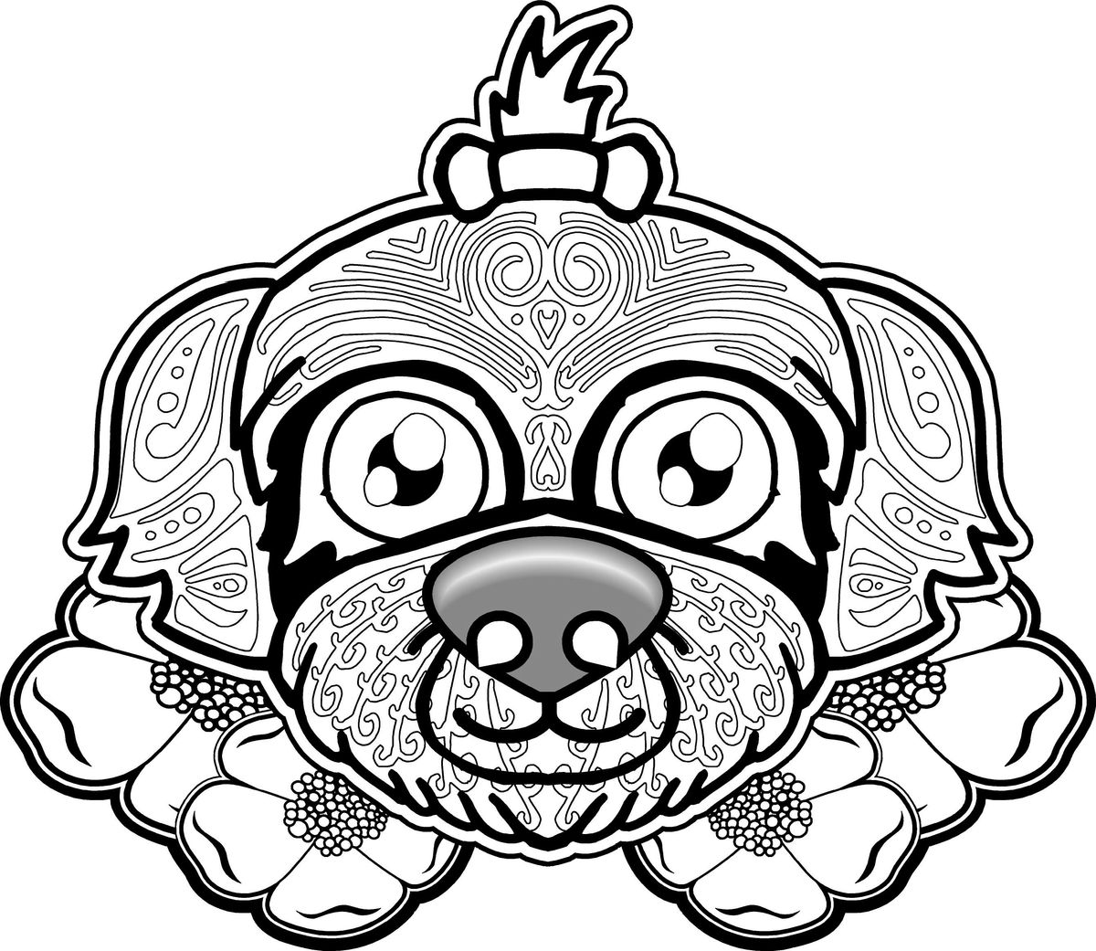 dog sugar skull coloring pages | 1000+ images about Colouring - CATS & DOGS on Pinterest