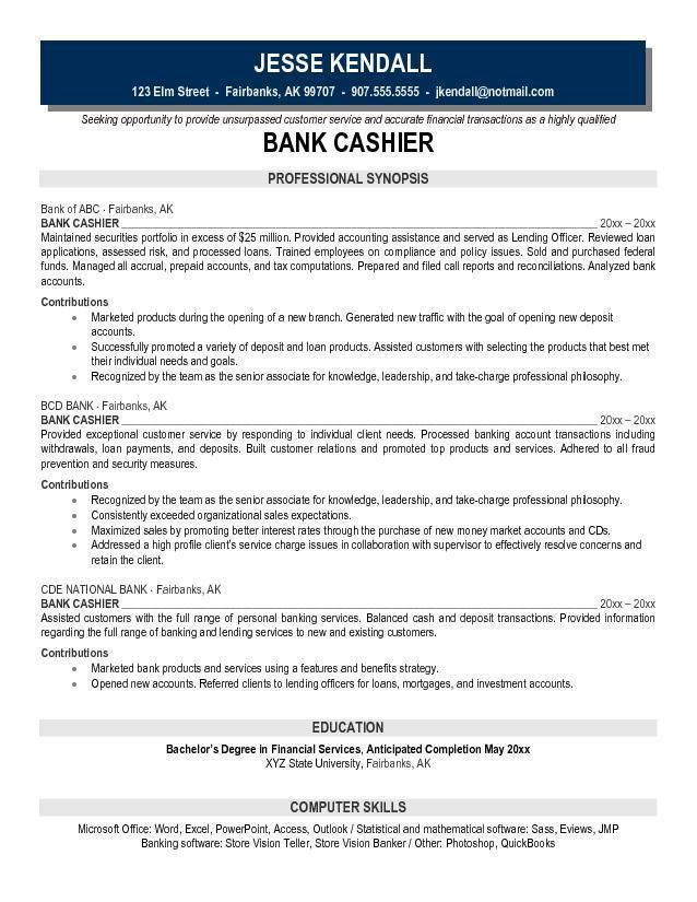 Cashier Objective Resume Examples Sample For