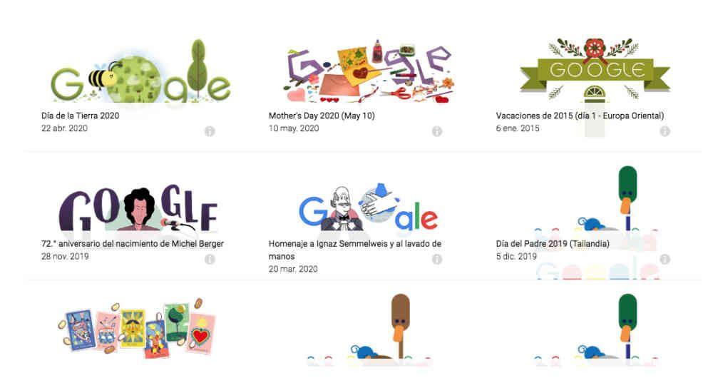 juegos de doodles de google populares