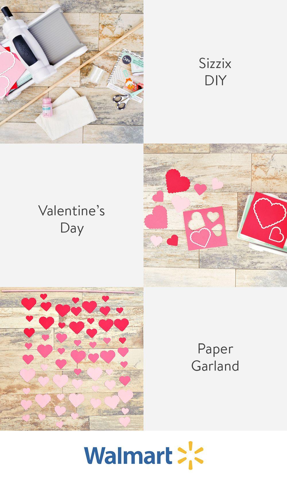 Sizzix DIY Valentine's Day Heart Garland