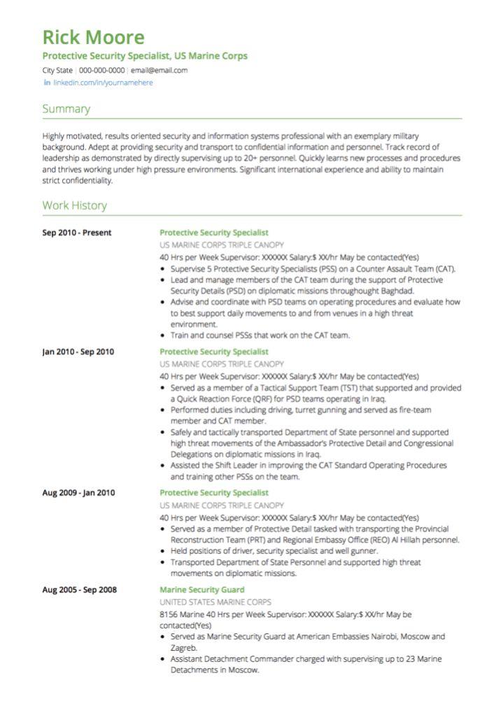 Military Resume Examples Military Resume Example Sample Military - military to civilian resume examples