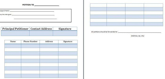 Name Address Phone Number Template Contact List Template 10 Free - free petition templates examples