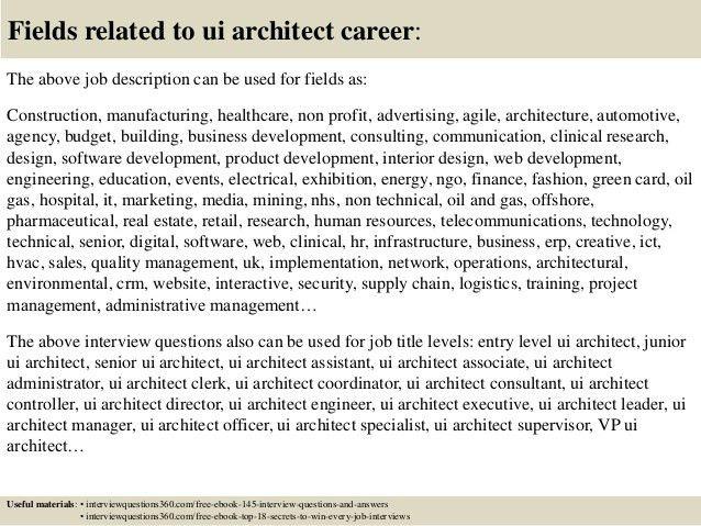 architects resume job description