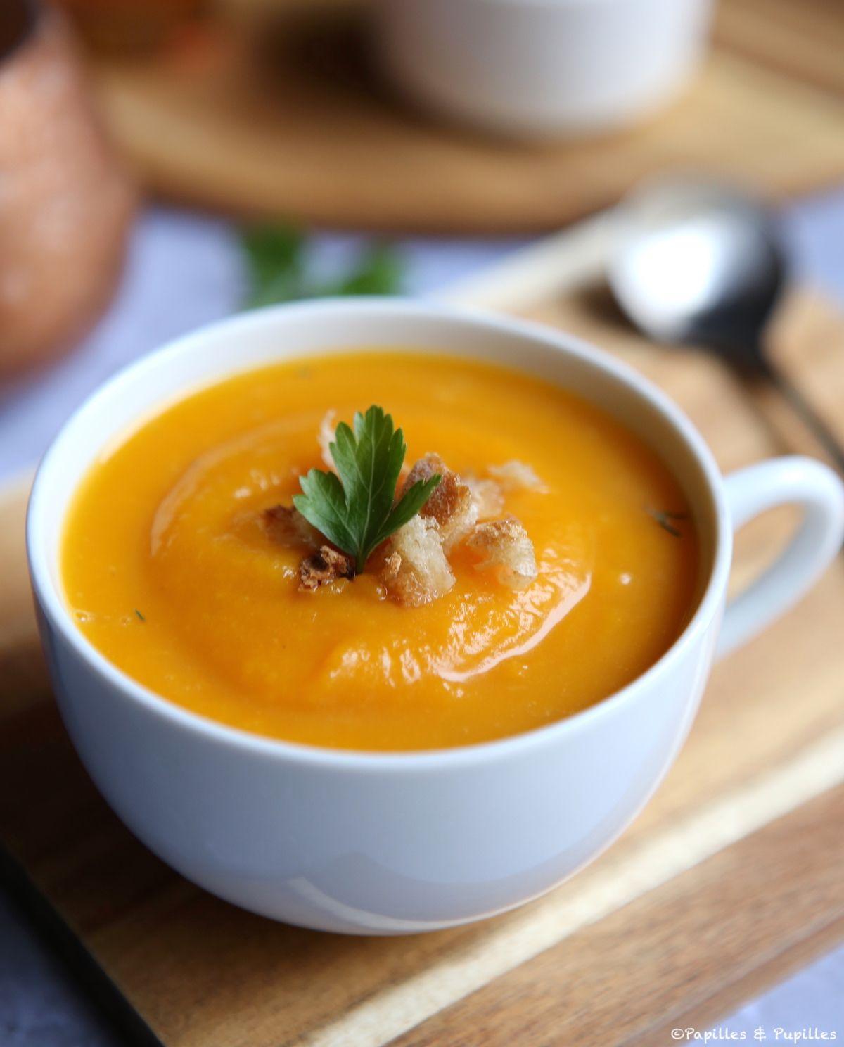 Soupe de Butternut aux épices douces