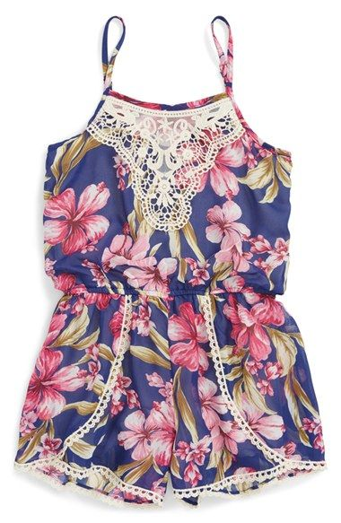 Truly Me Floral Romper (Toddler Girls & Little Girls) available at
