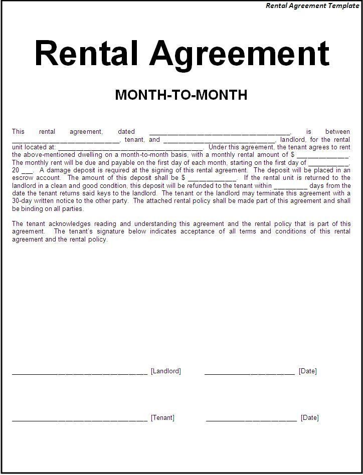 Rental Agreement Doc Rental Agreement Template Write A Perfect - agreement form doc