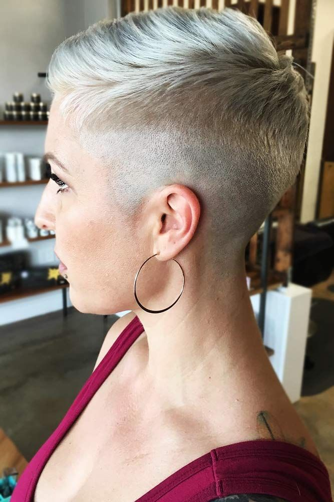 Faint Taper #fadehaircut #shorthairstyles ★  A taper fade haircut for women works for straight as well as curly hair. You canalso go for a short, mid or long option. #glaminati #lifestyle #taperfade