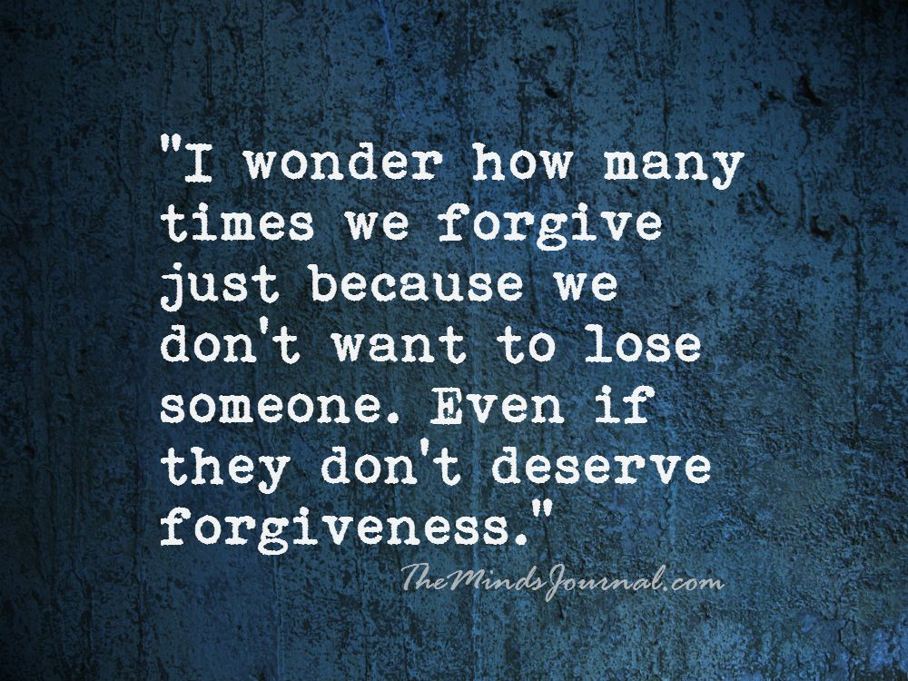 I Wonder How Many Times We Forgive