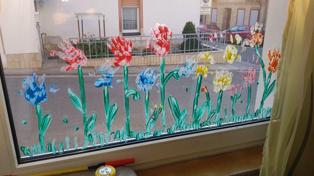 Fingerfarbe Fenster
