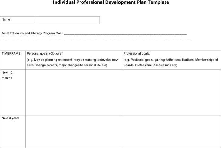 Professional Development Plan Template Professional Development - development plan templates