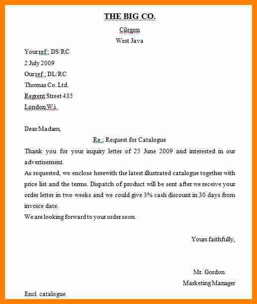 Sales Inquiry Letter Letter Of Inquiry Sales Inquiry Letter - order letter