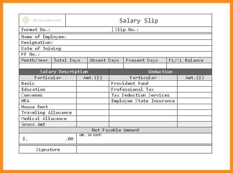 ... Employee Payment Slip Format Pastel Pay Slips Template, Salary    Payslip In Word Format ...  Payment Slip Template