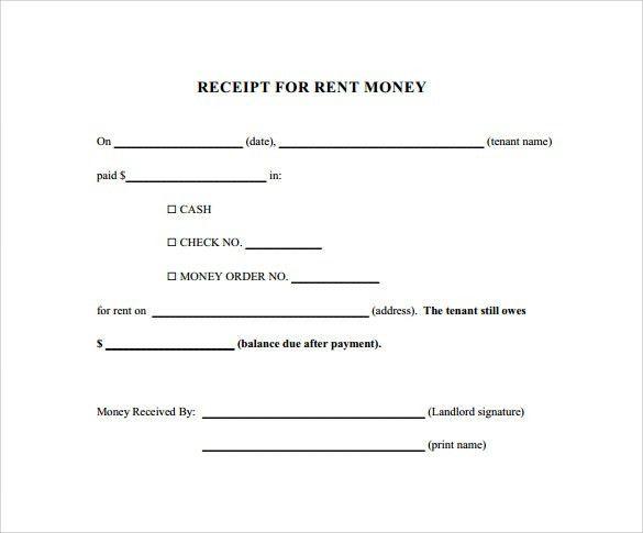 Rent Payment Receipt Sample Rental Receipt Template 10 Free - payment receipt sample