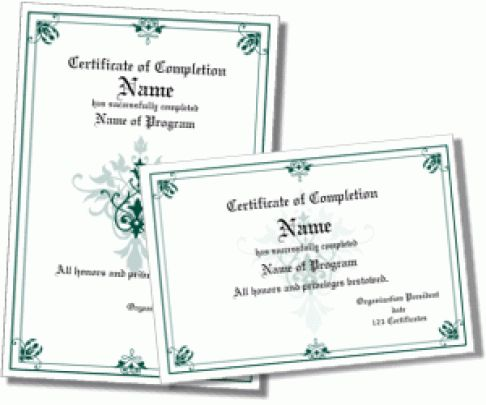 Template Certificate Of Completion Free Certificate Template - free certificate of completion template