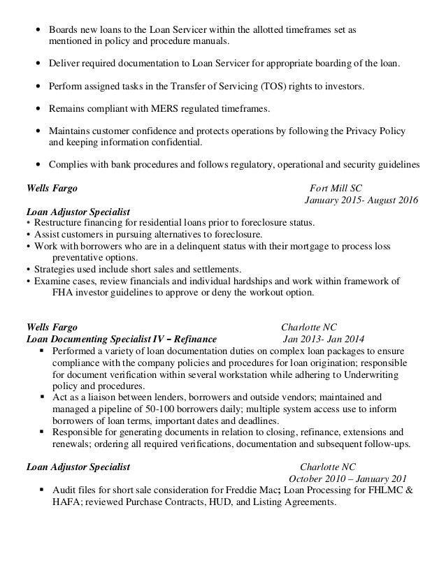 foreclosure specialist sample resume node2001-cvresume