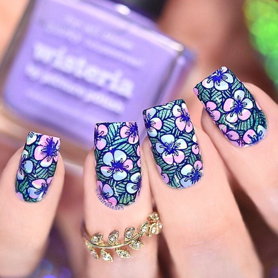 50 Floral Nail Designs for This Spring 2019 – Reny styles