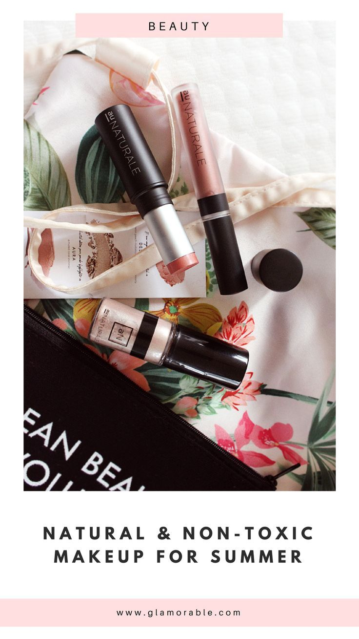 Natural and non-toxic summer makeup from Au Naturale #organicbeauty #cleanbeauty #nontoxic