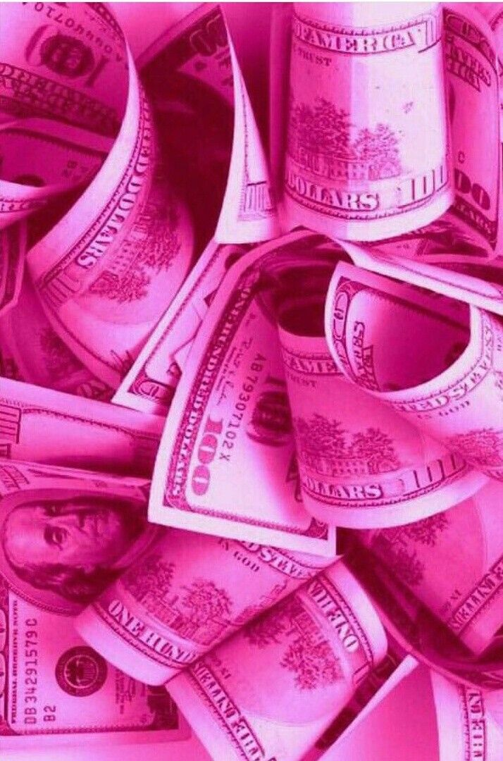 Neatly stacked, flying around, spread around and many. Pink cash money   Hot pink wallpaper, Pink aesthetic, Pink ...